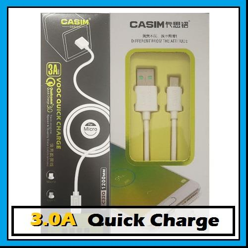 CASIM 3A VOOC Quick Charge Apple Lightning Micro Type-C Data USB Cable
