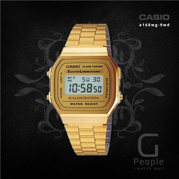 CASIO A168WG-9 DIGITAL RETRO WATCH ☑ORIGINAL☑
