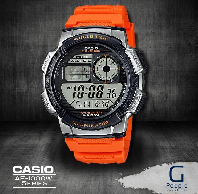 CASIO AE-1000W-4BV / AE-1000W-4B WORLD TIME WATCH 100% ORIGINAL