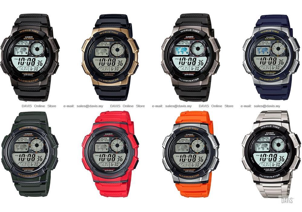Casio ae 1000w ae 1000wd standard d end 3292019 1019 pm casio ae 1000w ae 1000wd standard digital 10 year world time map gumiabroncs Choice Image