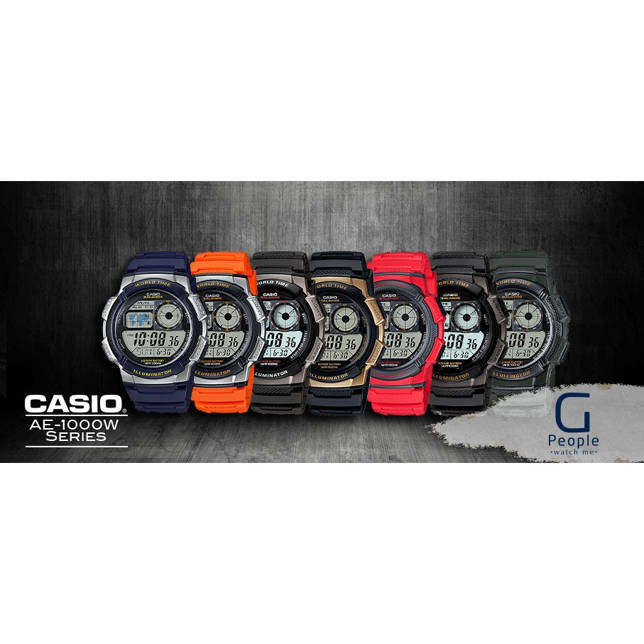 Casio Ae 1000w Series Watch 10 Year End 19 2020 728 Am Jam Tangan 1b Original Years Battery 9745original 1