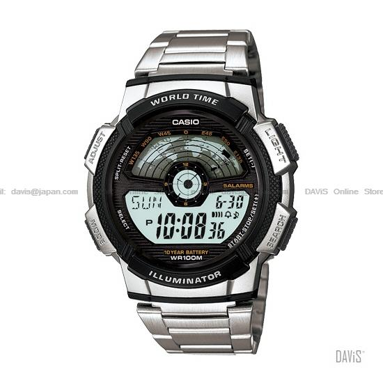 Casio ae 1100wd 1av standard digital end 452018 859 pm casio ae 1100wd 1av standard digital world map ss bracelet black gumiabroncs Choice Image