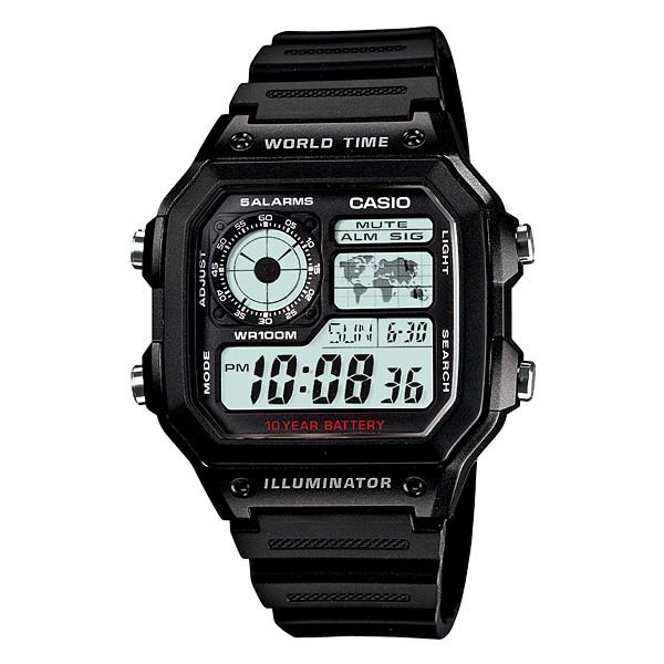 Casio AE-1200WH-1AV Digital Men Illuminator Watches Sports Casual Jam  Original d28f70181a