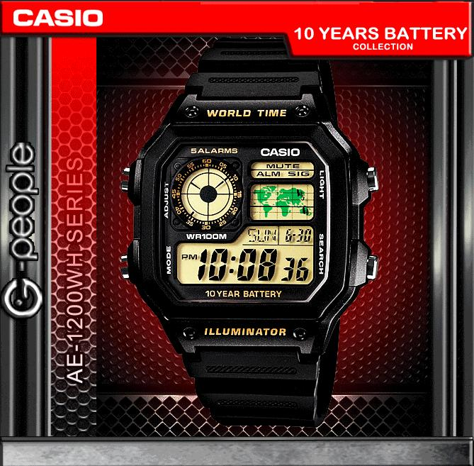 CASIO AE-1200WH-1B WATCH ☑ORIGINAL☑