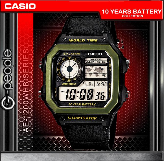 CASIO AE-1200WHB-1B WATCH ☑ORIGINAL☑