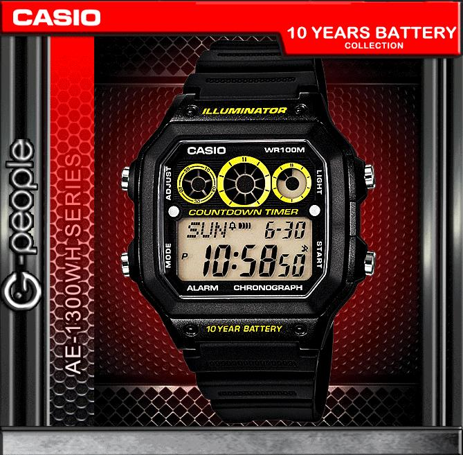 CASIO AE-1300WH-1AV 10 YEARS BATTERY WATCH☑ORIGINAL☑