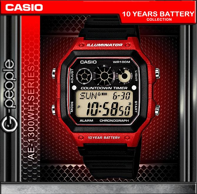 CASIO AE-1300WH-4AV 10 YEARS BATTERY WATCH 100% ORIGINAL