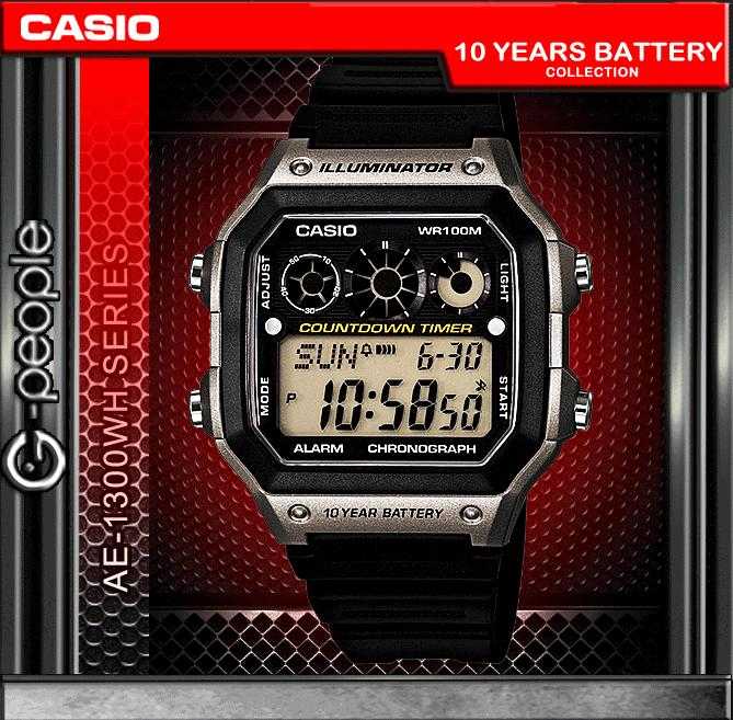 CASIO AE-1300WH-8AV 10 YEARS BATTERY WATCH☑ORIGINAL☑