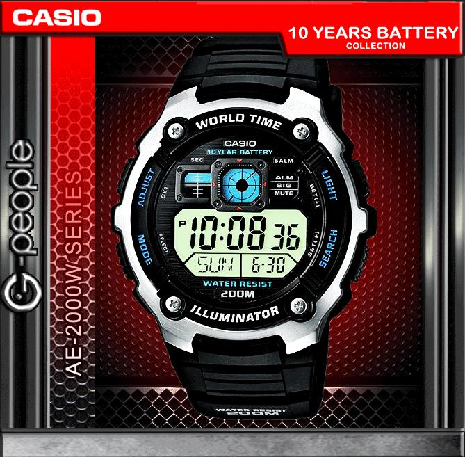 CASIO AE-2000W-1A 200M WR WATCH ☑ORIGINAL☑