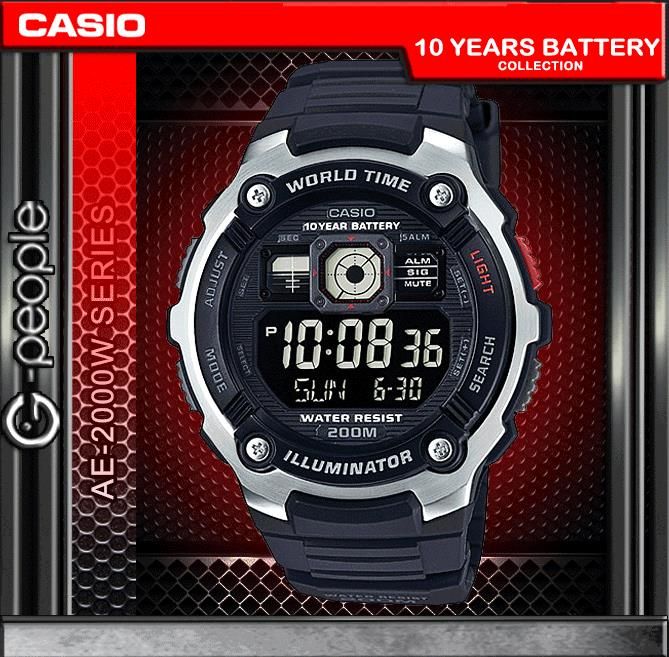 CASIO AE-2000W-1B 200M WR WATCH ☑ORIGINAL☑