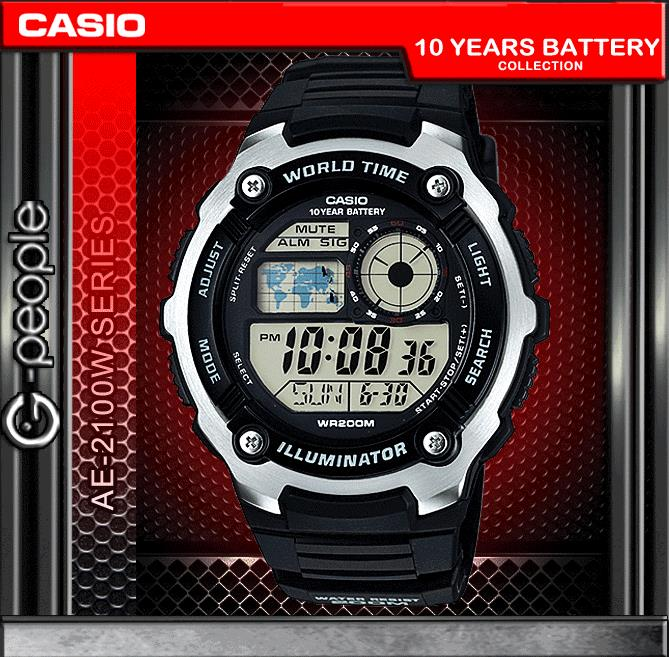 CASIO AE-2100W-1A 200M WR WATCH ☑ORIGINAL☑