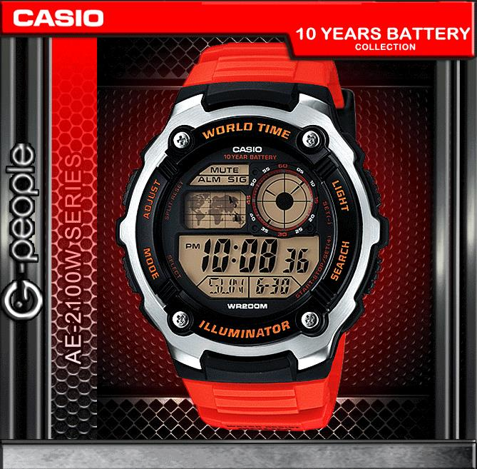 CASIO AE-2100W-4A 200M WR WATCH 100% ORIGINAL