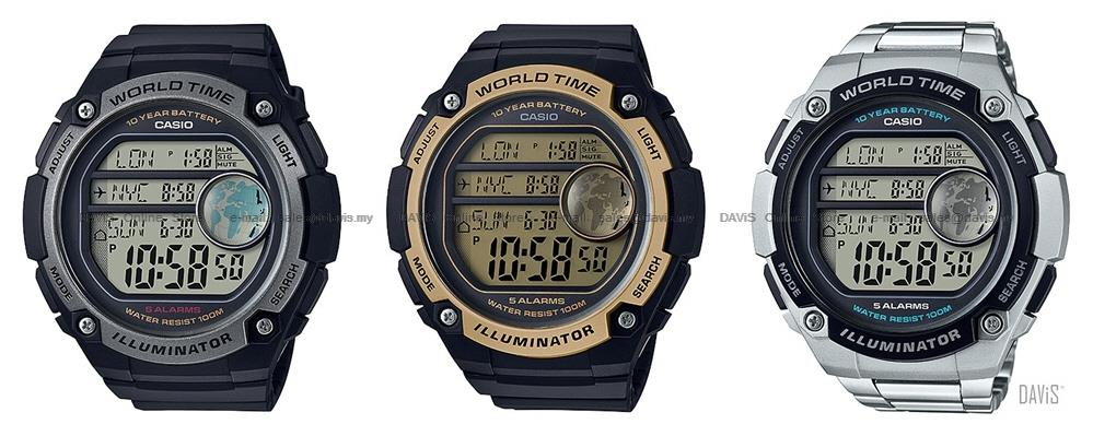 Casio ae 3000w ae 3000wd standard di end 3102019 319 pm casio ae 3000w ae 3000wd standard digital world map time stopwatch big gumiabroncs Images