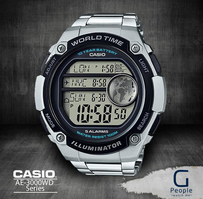 CASIO AE-3000WD-1AV / AE-3000WD-1A DIGITAL WATCH 100% ORIGINAL