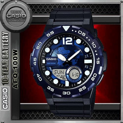 CASIO AEQ-100W-2A TELEMEMO WATCH☑ORIGINAL☑