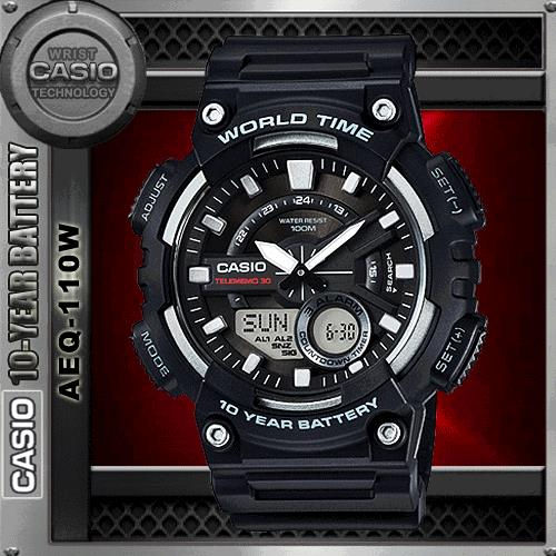 CASIO AEQ-110W-1A TELEMEMO WATCH☑ORIGINAL☑