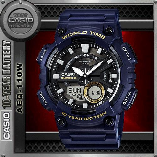 CASIO AEQ-110W-2A TELEMEMO WATCH☑ORIGINAL☑