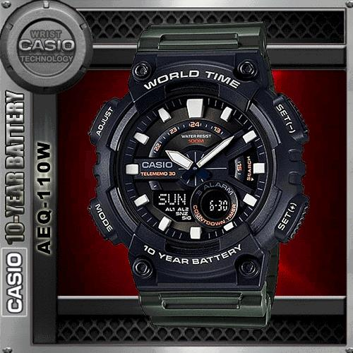 CASIO AEQ-110W-3A TELEMEMO WATCH☑ORIGINAL☑