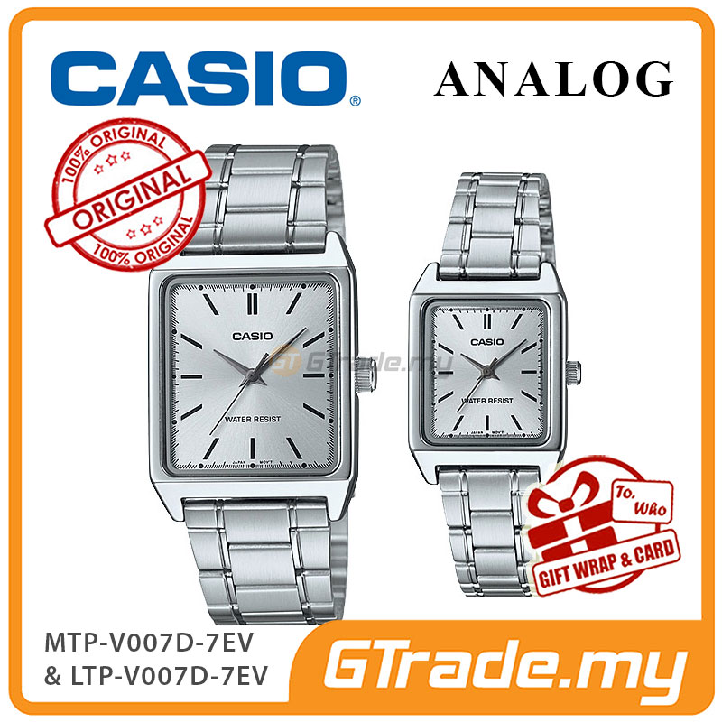 CASIO ANALOG MTP-V007D-7EV & LTP-V007D-7EV Analog Couple Watch