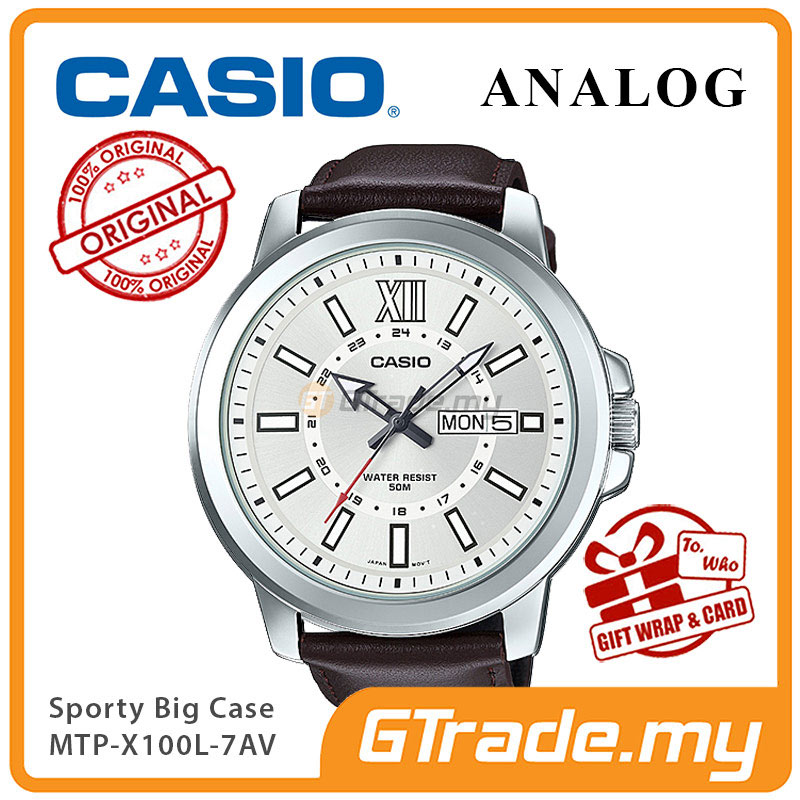 CASIO ANALOG MTP-X100L-7AV Mens Watch | Day Date Huge Sporty Design