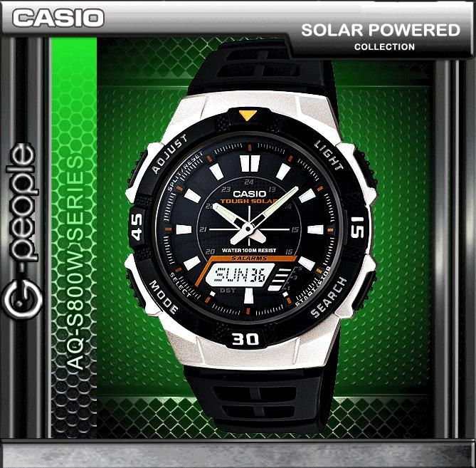 CASIO AQ-S800W-1E SOLAR POWERED WATCH ☑ORIGINAL☑