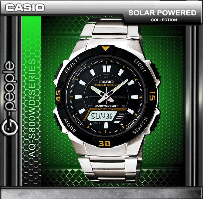 CASIO AQ-S800WD-1E SOLAR POWERED WATCH ☑ORIGINAL☑