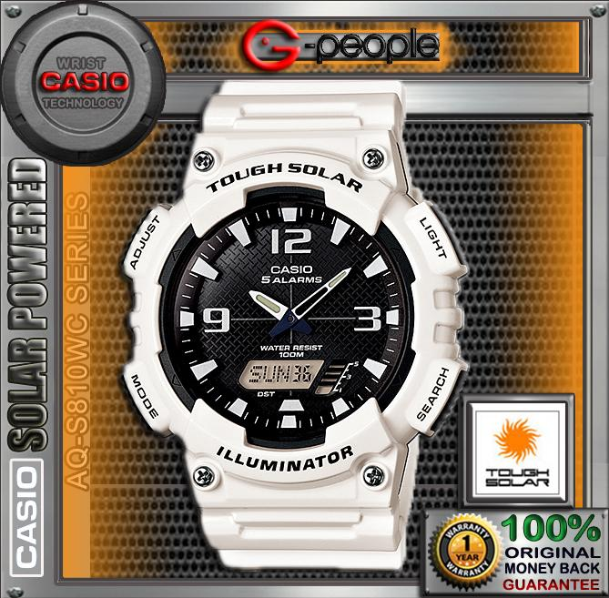 CASIO AQ-S810WC-7AV SOLAR POWERED WATCH ☑ORIGINAL☑