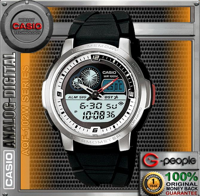 CASIO AQF-102W-7BV ACTIVE DAIL THERMOMETER WATCH