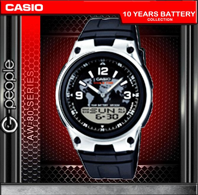 CASIO AW-80-1A2V ANALOG DIGITAL WATCH ☑ORIGINAL☑
