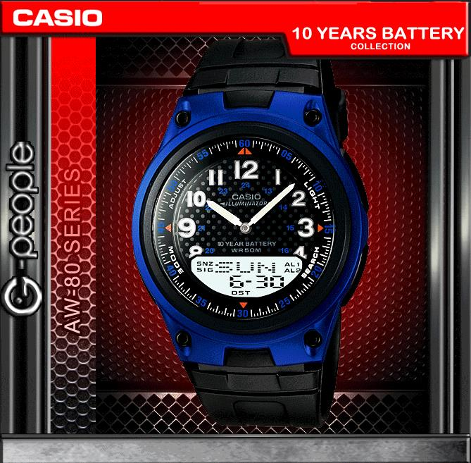 CASIO AW-80-2BV ANALOG DIGITAL WATCH ☑ORIGINAL☑