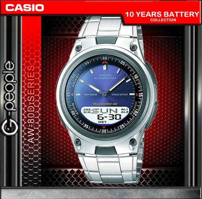 CASIO AW-80D-2AV ANALOG DIGITAL WATCH ☑ORIGINAL☑