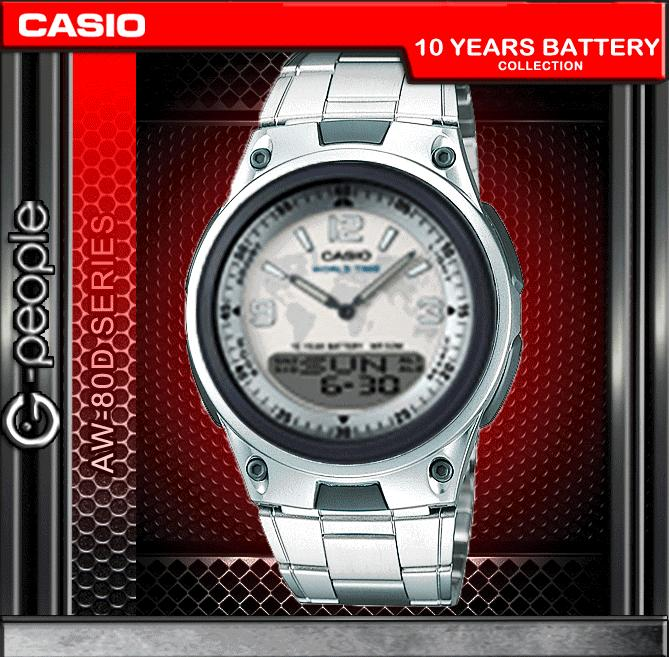 CASIO AW-80D-7A2V ANALOG DIGITAL WATCH ☑ORIGINAL☑