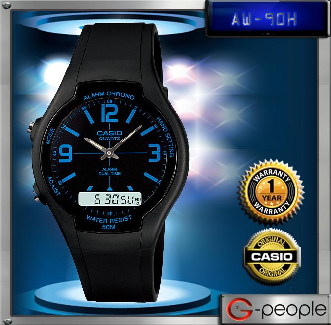 CASIO AW-90H-2B ANALOG DIGITAL WATCH☑ORIGINAL☑