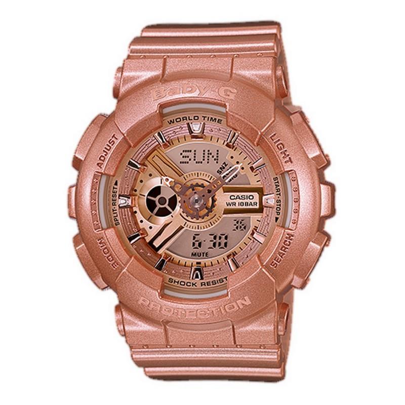Casio Ba 111 4adr G Shock Baby Men S Gold Resin Strap Watch