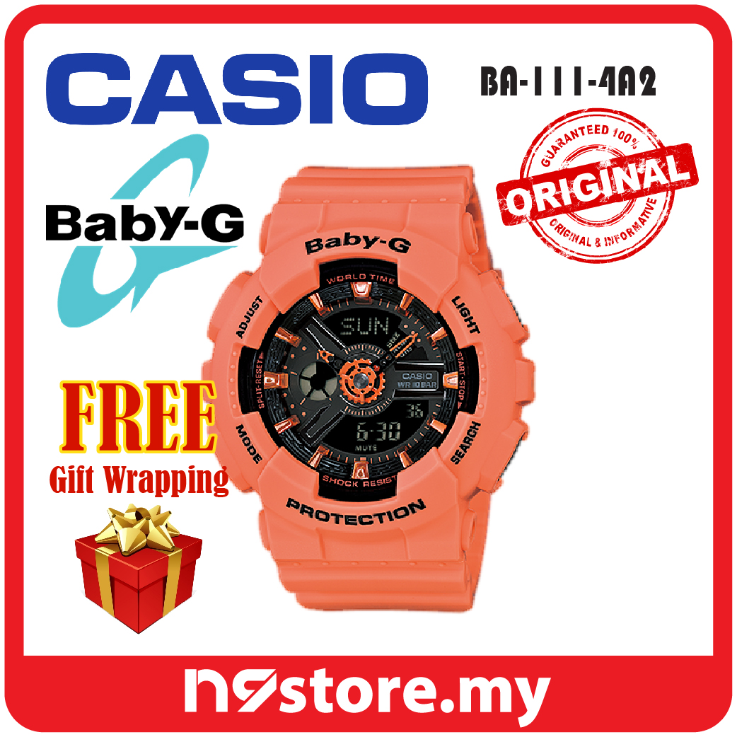 cde3abac7a Casio Baby-G BA-111-4A2 Analog Digital Neon Colors Ladies Sports Watch