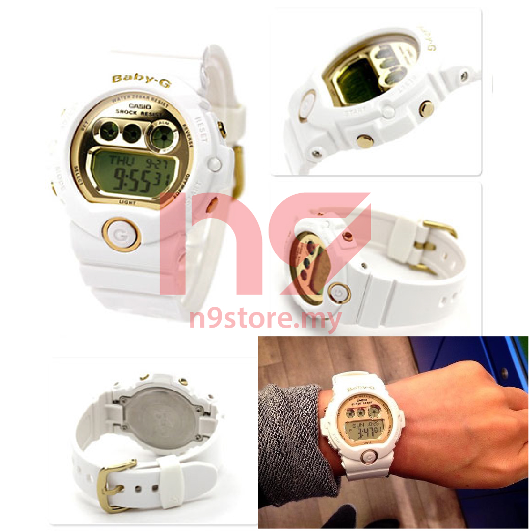 473a445a93e1 Casio Baby-G BG-6901-7D Digital Ladies White Gold Sports Watch