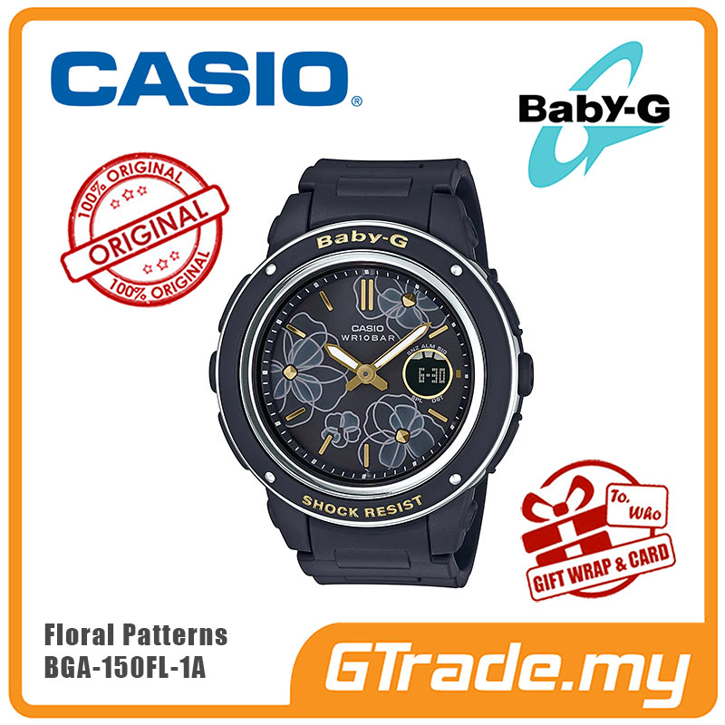 ed389bd7e9 CASIO BABY-G BGA-150FL-1A Analog Digital Watch | Floral [READY STOCK]