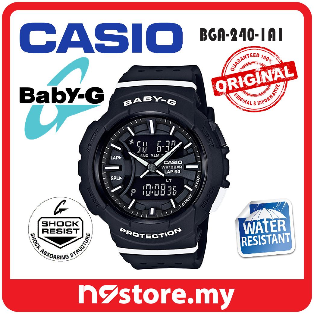 9f004f0e0cb82 Casio Baby-G BGA-240-1A1 Ladies Resin Band Neobrite LED Light Watch. ‹ ›