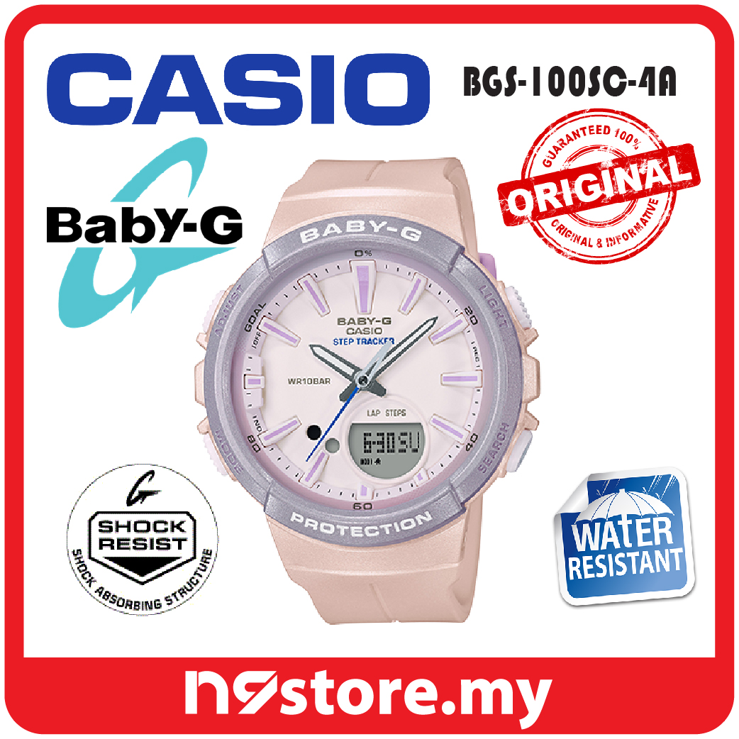 e06173e49 Casio Baby-G BGS-100SC-4A Analog Digital Ladies Step Tracker Neobrite. ‹ ›