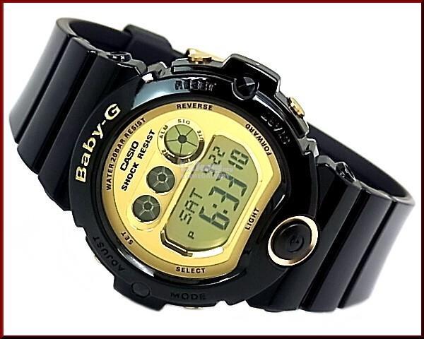 CASIO BABY-G ORIGINAL BG-6901-1 BLACK GOLD DIGITAL WOMEN LADIES c52be26da4