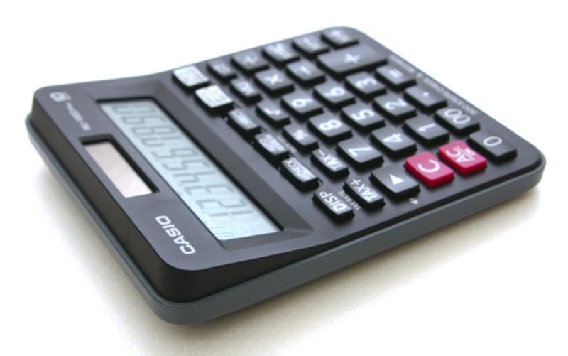 Casio Check & Recheck Calculator Back Step 10 Digit