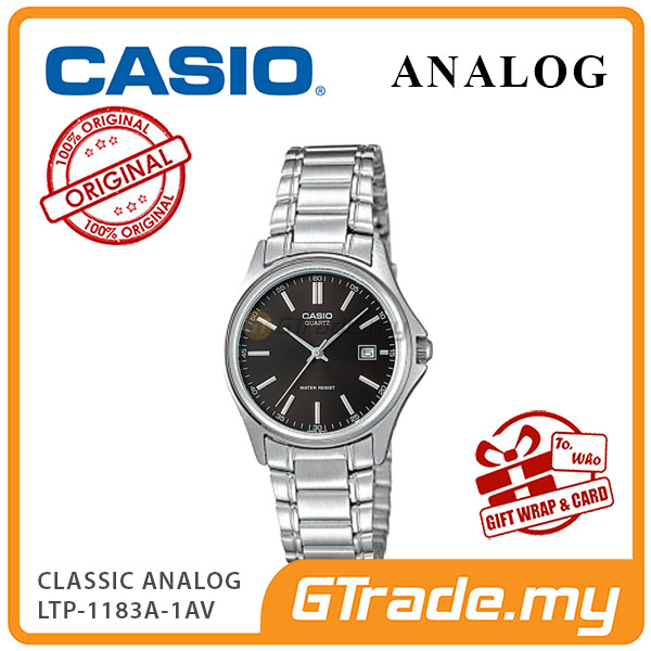 CASIO CLASSIC ANALOG LTP-1183A-1AV Ladies Watch | Date Display Steel