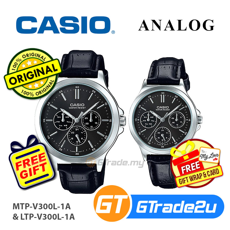 CASIO COUPLE MTP-V300L-1AV & LTP-V300L-1AV [Ready Stock]