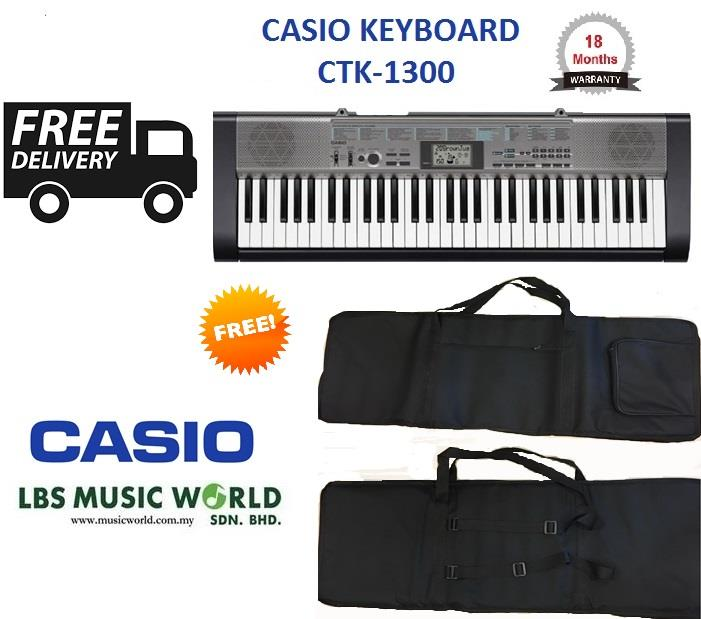 CASIO CTK-1300 61 KEYS KEYBOARD WITH FREE BAG