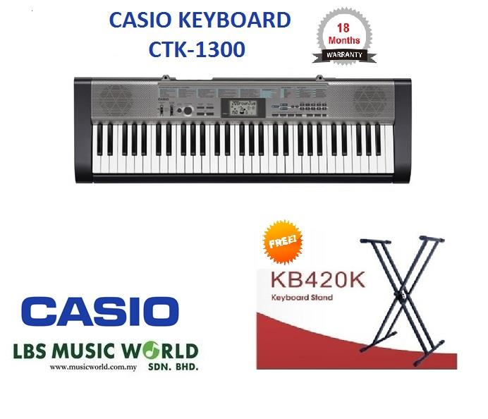 CASIO CTK-1300 61 KEYS KEYBOARD