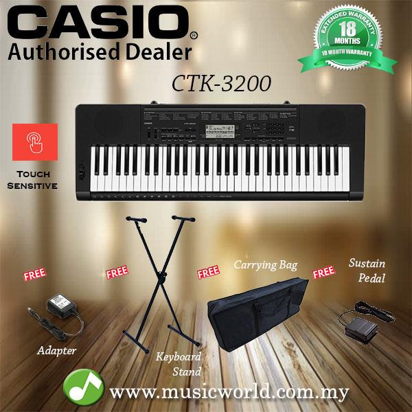 casio ctk 3200 portable keyboard el end 10 18 2020 1 57 am. Black Bedroom Furniture Sets. Home Design Ideas