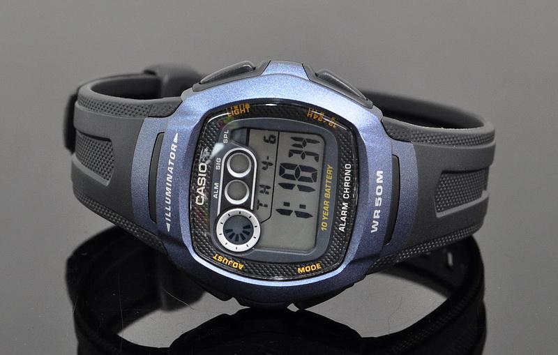 Digital Rubber Casio 1bvdf W 210 Time Dual Years Battery 10 Watch XikuPOZT