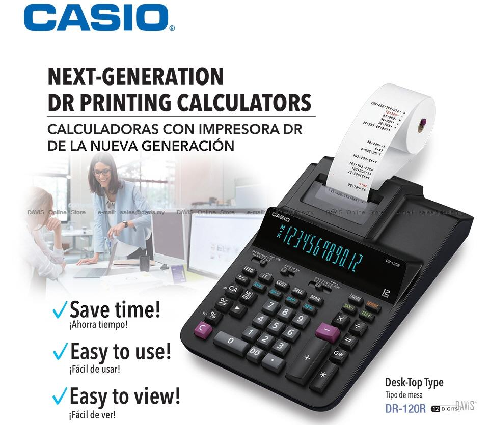 CASIO DR-120R Printing Calculator Desk Top Type 12 digits *Variants