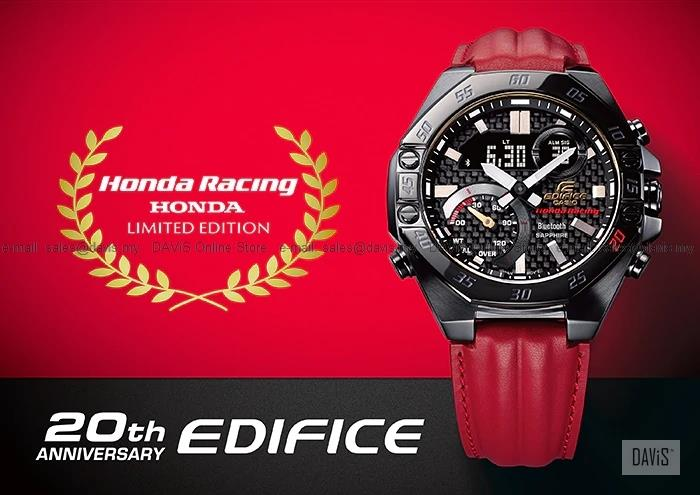CASIO ECB-10HR-1A EDIFICE Honda Racing 20th Anniv Bluetooth Leather LE