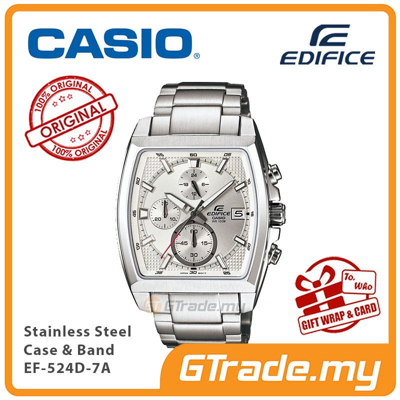 CASIO Edifice EFR-524D-7A Men Chronograph Watch Square design [PRE]